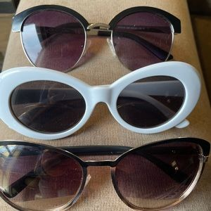 Sunglasses Guess, Jessica Simpson and a sturdy knock off white pair